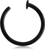 BLACKSTEEL OPEN NOSE RING