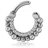 JEWELED SEPTUM RING ACIER 316L
