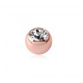 MICRO BILLE STRASS PVD ROSE GOLD