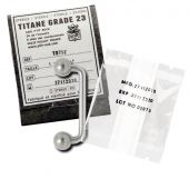TITANE BARRE IMPLANT STERILE 1.6 X 32 X 4 MM